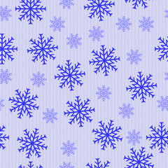 Blue abstract snowflakes