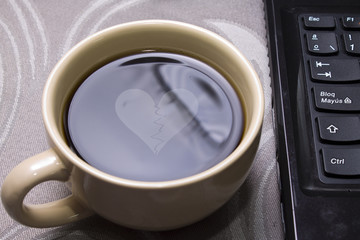 cup of coffee with romantic message