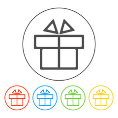 Gift box itson - vector icon