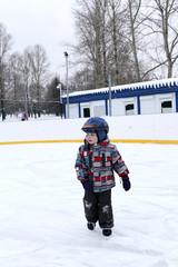 Child at the skating rink