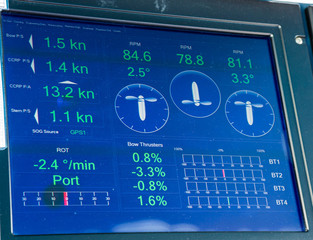 Digital Readout on Ships Bridge