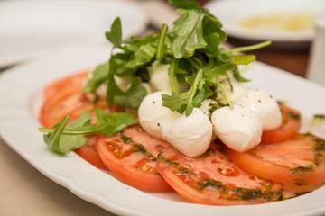 Tomatoes Mozzarella and Arugula