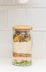 Soup Ingredients in Jar