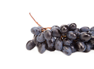 Bunch of blue grapes.