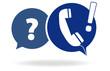 Telefonhörer in Sprechblase - Vektor