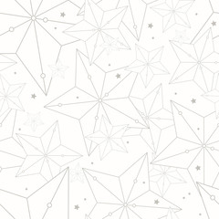 Hipster style seamless pattern with stars