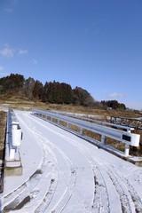 冬の田舎道・季節
