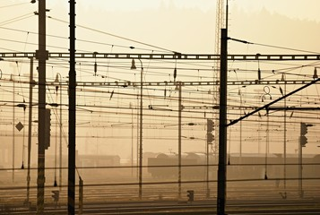 Electrified railway station