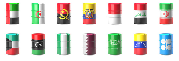 Organization Of The Petroleum Exporting Countries flags