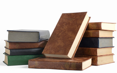 The pile of books