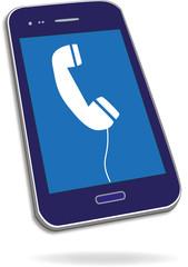 Smartphone mit Telefonsymbol, Vektor