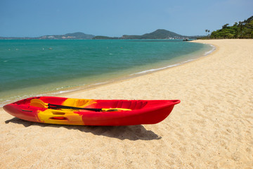 Canoe at the Maenam Beach in Koh Samui, Thailand