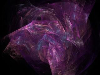 Violet cubic abstract fractal effect light background