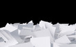 Leinwandbild Motiv papers heap