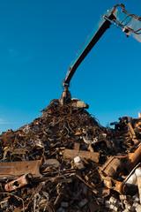 metal recycling junkyard
