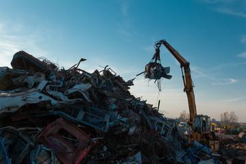 scrap metal dump