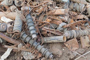 discarded rusty metal heap