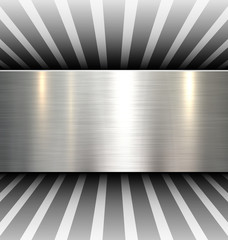Background 3d with metal texture