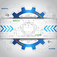 Abstract future technology concept background, vector