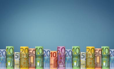Euro  Banknoten / leerer Hintergrund