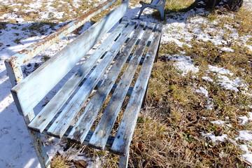 冬の風景・ベンチ