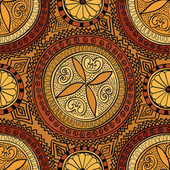 Abstract floral seamless pattern. Oriental ornament background
