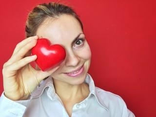 Rotes Herz am Valentinstag