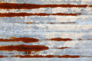 rusty zinc plate