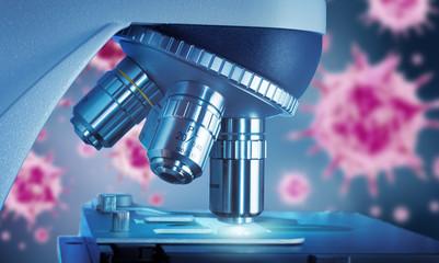 Viren und Mikroskop