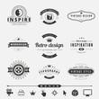 Retro Vintage Labels Logo design vector typography lettering - 76253324