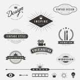 Retro Vintage Labels Logo design vector lettering inspiration - 76253331
