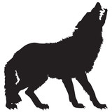silhouette of a wolf