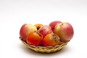 Fruits on a basket plate