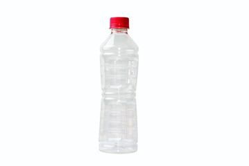 Plastic bottle with red cap