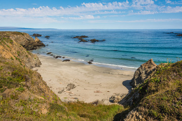 The beach of Fort Bragg, California