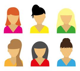 Business icons young beautiful women
