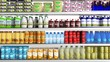 Supermarket refrigerator with various products - 76256301