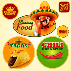 stickers food chili tacos