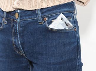 Condom pocket