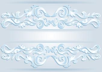 Abstract ornamental borders