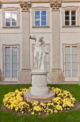 Male statue in Lazienki Palace (1795) in Warsaw, Poland