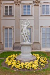 Female statue in Lazienki Palace (1795) in Warsaw, Poland