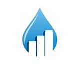 drop water - chart bar logo