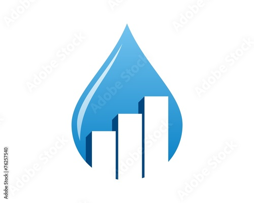 drop water - chart bar logo © kutukupret