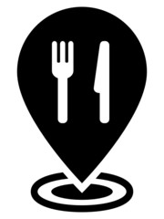Restaurant map pointer icon