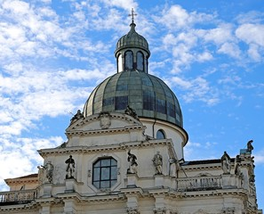 great Dome of Basilica di Monte Berico in Vicenza in Italy