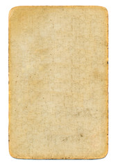 empty used antique playing card paper background