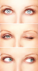 Close-up of woman's eyes.Emotion
