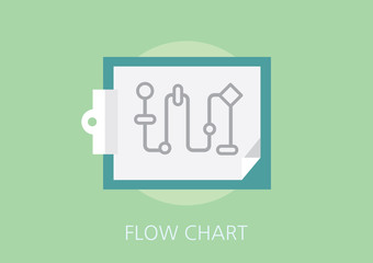 flow chart concept flat icon