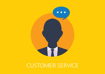customer service concept flat icon